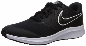 Nike Unisex Kid's Star Runner 2 (GS) Trainers White-Black-Volt 001 4.5 (37.5 EU)