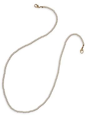 Aqua Imitation Pearl Face Mask Chain in Gold Tone - 100% Exclusive
