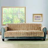 Sure Fit Faux Fur Reversible Sofa Cover