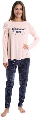 On Wallflower Dream Long-Sleeve Tee & Legging Pajama Set