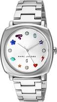Marc Jacobs Women's 'Mandy' Quartz Stainless Steel Casual Watch, Color:Silver-Toned (Model: MJ3548)