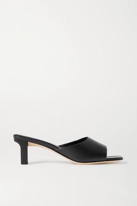 AEYDĒ Katti Leather Mules - Black