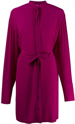 Stella McCartney silk pussy bow detail dress