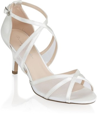 Paradox London Helka Ivory Extra Wide Fit Ankle Strap Sandals