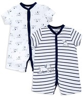 Little Me Boys' Puppies Toile Rompers, 2 Pack - Baby