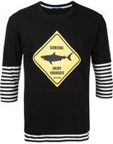 GUILD PRIME surfing layered T-shirt - men - Cotton - 1