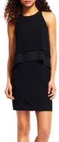 Adrianna Papell Women's Chiffon Tier Popover Dress