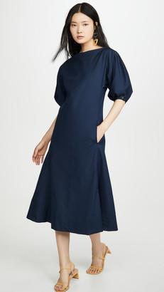 Mansur Gavriel Ruched Cotton Dress