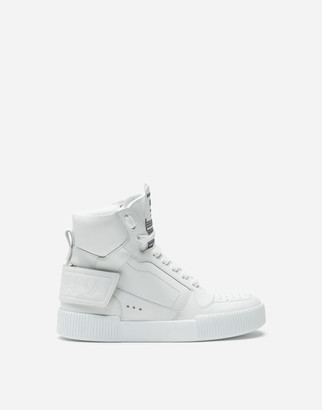 Dolce & Gabbana Miami High-Top Sneakers In Calfskin Nappa