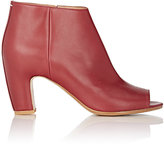 Maison Margiela Women's Peep-Toe Side-Zip Ankle Boots-RED