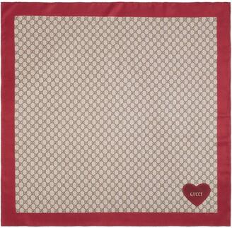 Gucci Valentine's Day silk scarf