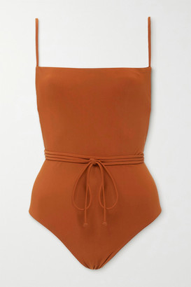 Anémone Belted Swimsuit - Brown