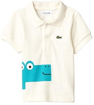 Lacoste Kids Until 8 Fun Croc Polo (Infant/Toddler/Little Kids/Big Kids) (Lapland) Boy's Clothing