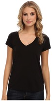 LAmade Short-Sleeve Low V-Neck Boyfriend Tee