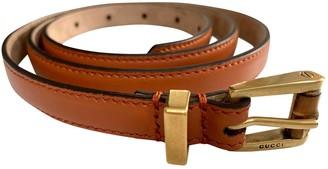 Gucci Orange Leather Belts