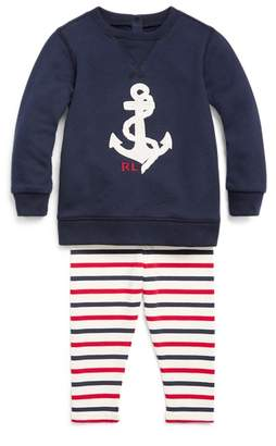 Ralph Lauren Nautical Top & Legging Set