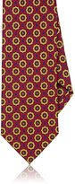 Drakes Drake's Men's Medallion-Pattern Necktie-BURGUNDY