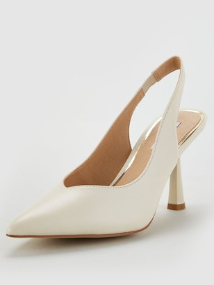 Office Morticia Heeled Shoe - Off White