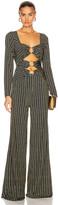 Jonathan Simkhai Chain Cutout Jumpsuit in Midnight Combo | FWRD