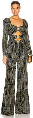 Jonathan Simkhai Chain Cutout Jumpsuit in Midnight Combo | FWRD