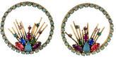Erickson Beamon Crystal Open Circle Drop Earrings