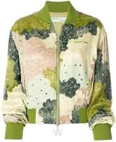 Off-White floral print bomber jacket
