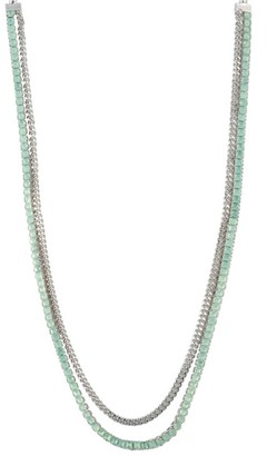 "Carolee Marlene 42"" Glass Pearl, Stone & Chain Necklace"