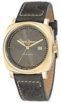 Pepe Jeans Howard Men's Quartz Watch with Grey Dial Analogue Display and Black Leather Strap R2351111002