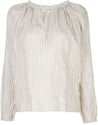 Nili Lotan Brooke striped print blouse