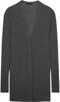 Calvin Klein Collection Ribbed Cashmere-blend Cardigan - Dark gray