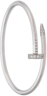 Cartier pre-owned 18kt white gold diamond Just un Clou bracelet