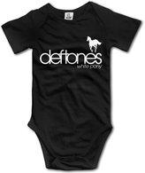 MonroeC Baby Boys Baby Girls Deftones Flag Onesies Clothing
