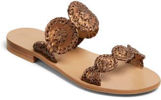 Jack Rogers Lauren Snake-Embossed Foiled Sandals