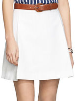 Lauren Ralph Lauren Pleated Cotton Miniskirt