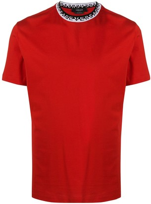 Versace logo-neck short-sleeve T-shirt