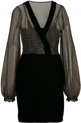 PatBO mesh detail dress