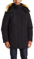 Andrew Marc Men's Niagra Down Parka W/ Removable Faux Fur Trimmed Hood