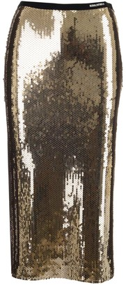 RED Valentino Sequined Jersey Skirt