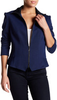 Anne Klein Mock Neck Jacket