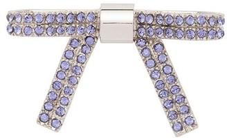 Miu Miu crystal-embellished bow brooch