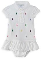 Ralph Lauren Girls' Ruffled Polo Dress - Baby