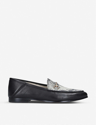 Sam Edelman Loraine snake-embossed leather loafer