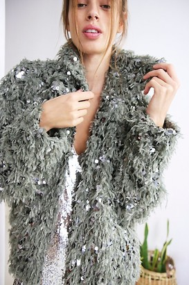 Free People Camilla Sequin Feather Jacket