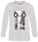 Fendi Silver Monster Print Tee
