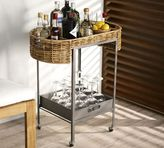 Pottery Barn Woven Bar Cart