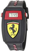 Ferrari Scuderia Quartz Resin and Silicone Casual Watch, Color:Black (Model: 0810012)