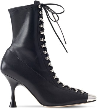 Sergio Rossi 90mm Leather Ankle Boots
