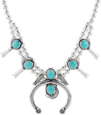 American West Classics Turquoise Squash Blossom Necklace