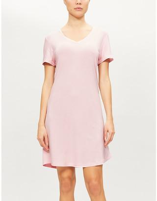 Derek Rose Lara V-neck stretch-woven night gown
