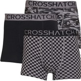 Crosshatch Mens Darner Three Pack Boxers Black/Black/Tornado